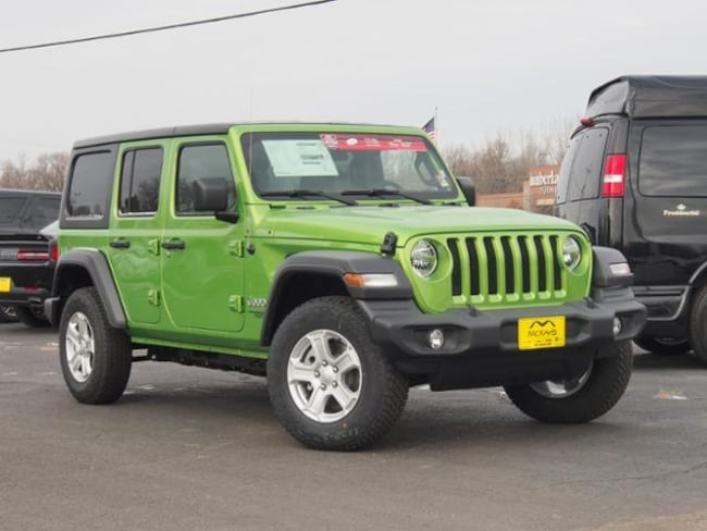 New 2018 Jeep Wrangler UNLIMITED SPORT S 4X4 Sport Utility For Sale/Lease Waite Park, MN