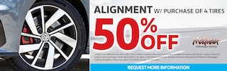 Alignment Discount With Purchase of 4 Tires