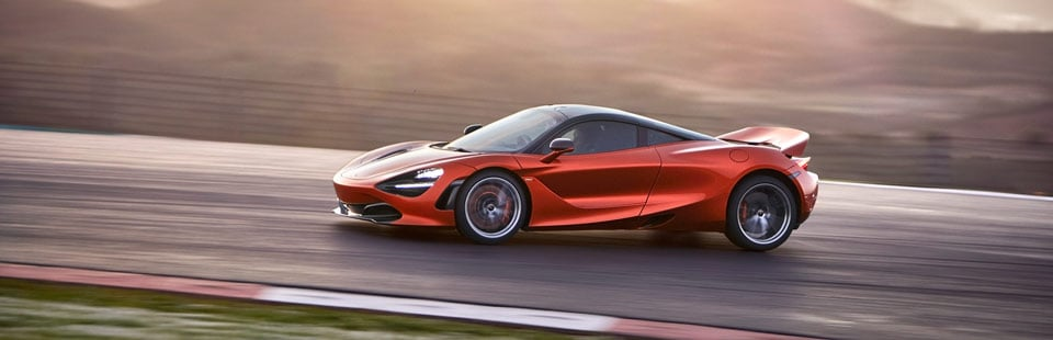 McLaren 720S on the race track