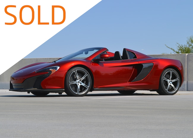 Used 2015 McLaren 650S Spider Convertible For Sale Scottsdale, AZ