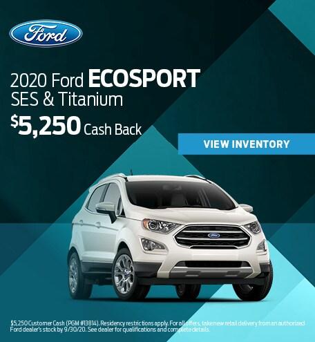 2020 Ford EcoSport SES & Titanium