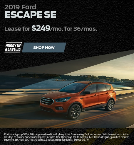 August 2019 Ford Escape Special