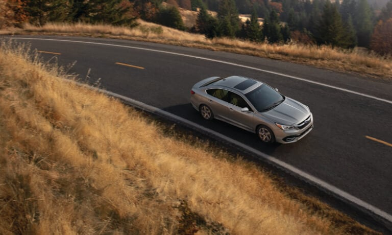 2020 Subaru legacy Birds Eye View While Driving on Highway