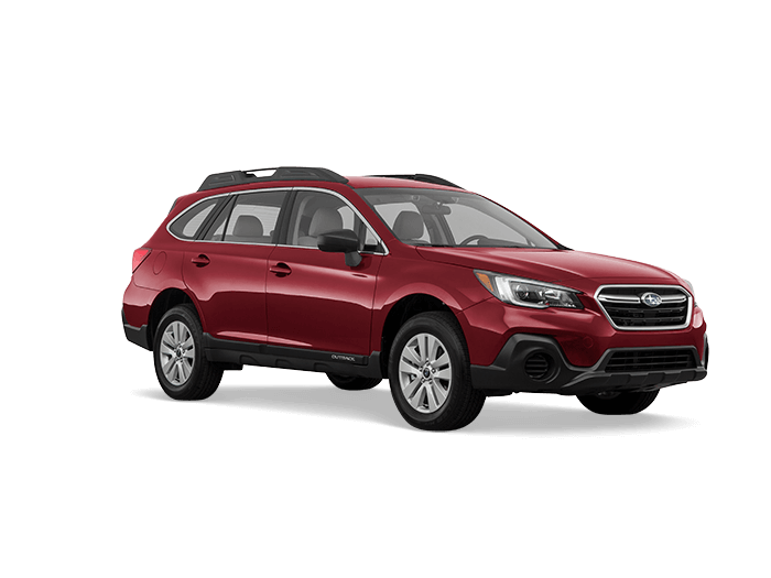 A red 2019 Subaru Outback 2.5i