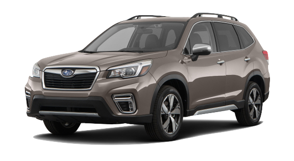 A 2019 Subaru Forester Touring on a transparent background