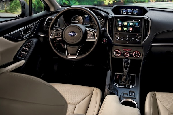 The dashboard of the 2019 Subaru Impreza
