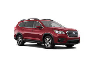 A red 2019 Subaru Ascent Premium