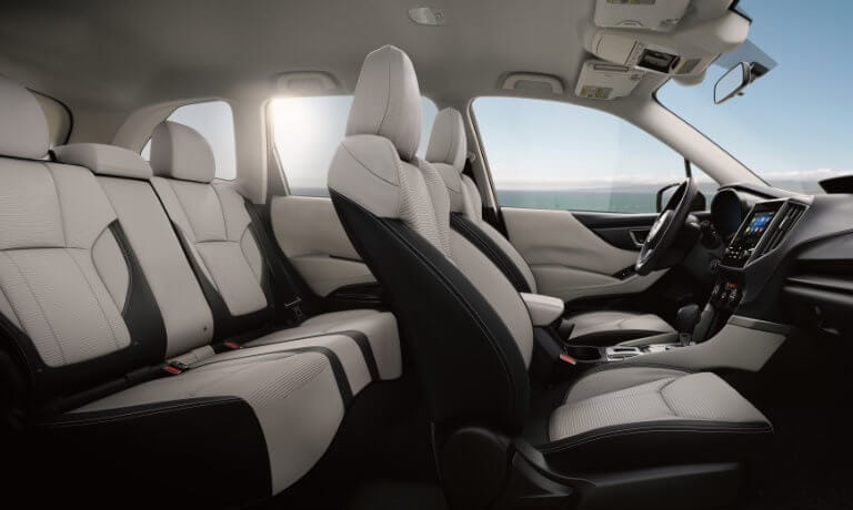 2021 Subaru Forester interior side view of seating