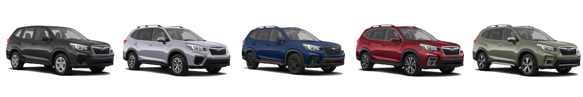 The 2019 Subaru Forester Base, Premium, Sport, Limited & Touring
