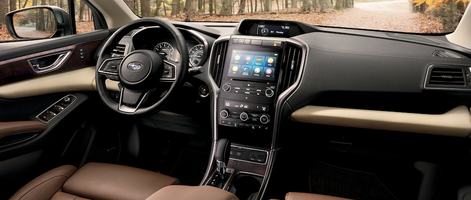 The interior of the 2019 Subaru Ascent