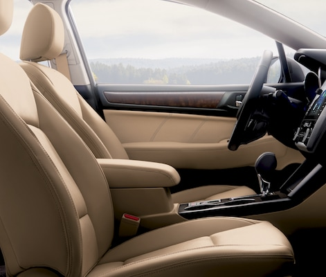 The front seats in the 2019 Subaru Outback