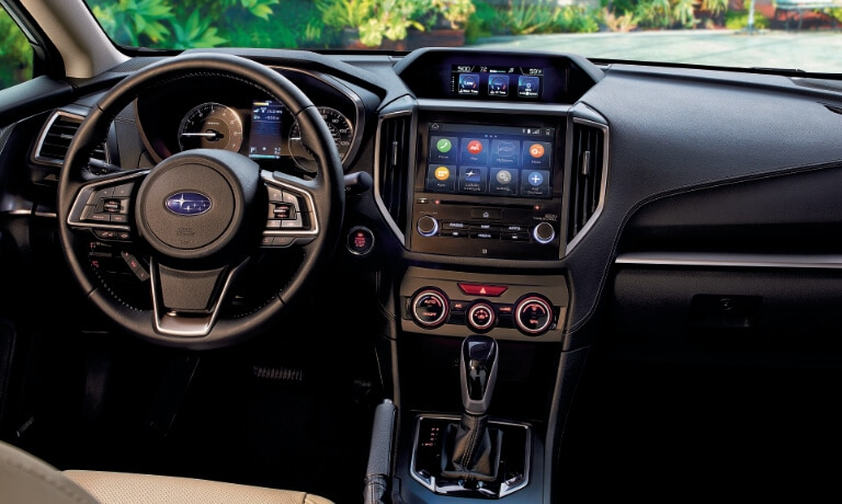 2020 Subaru Impreza interior showing front dash