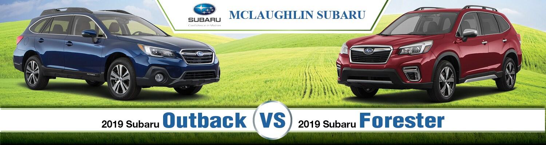 Subaru Outback Vs Forester >> 2019 Subaru Outback Vs Forester Head To Head Comparison