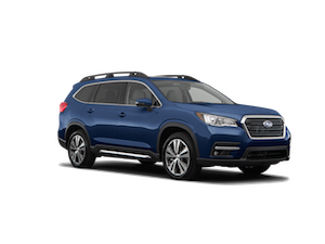 A blue Subaru Ascent Limited