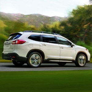 White Subaru Ascent sideview