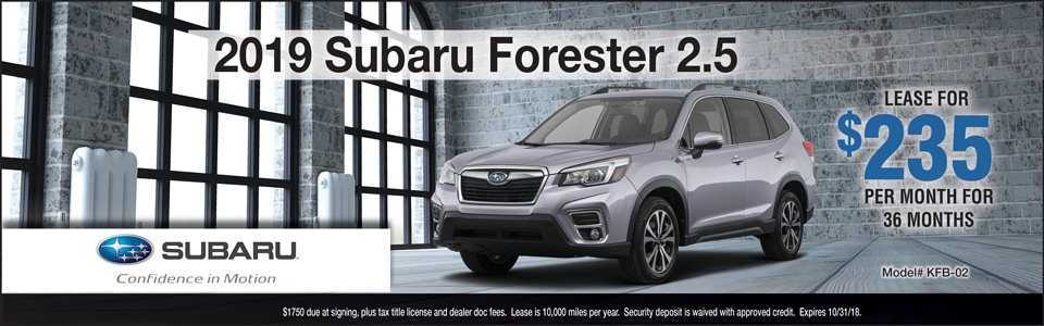 2019 Subaru Forester October Lease