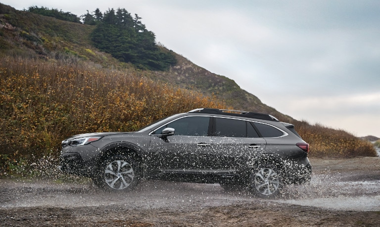 2020 Subaru Outbak Touring in water