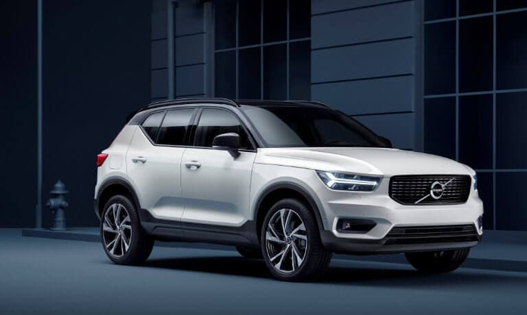 2021 Volvo XC40 parked at a curb