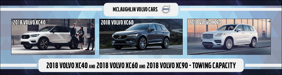 A 2018 XC40, XC60 and XC90 parked next to each other.