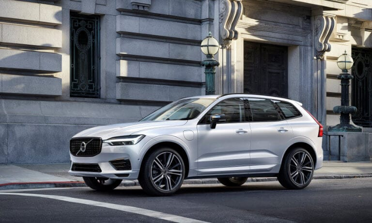 2021 Volvo XC60 driving in town