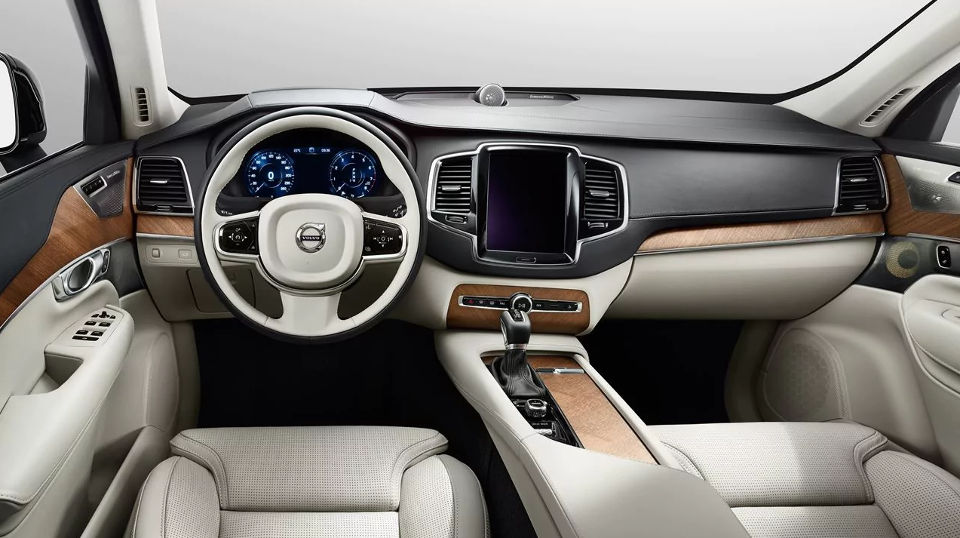 Interior of a 2018 Volvo XC90.