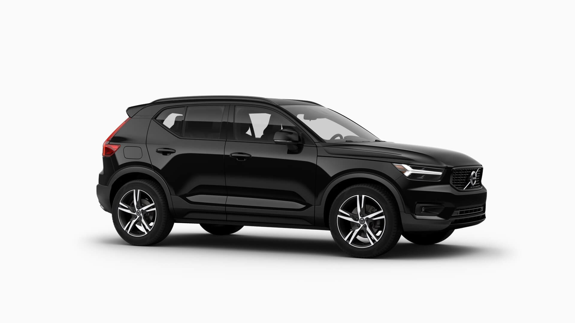 Black 2019 Volvo XC40 R-Design exterior features