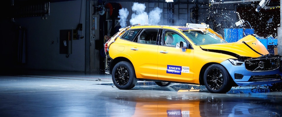 A crash test of a 2019 Volvo XC60