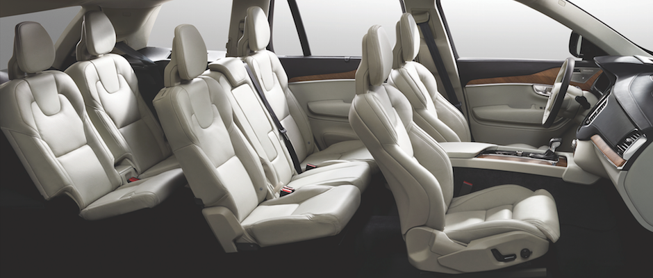 Volvo XC90 seating arrangement