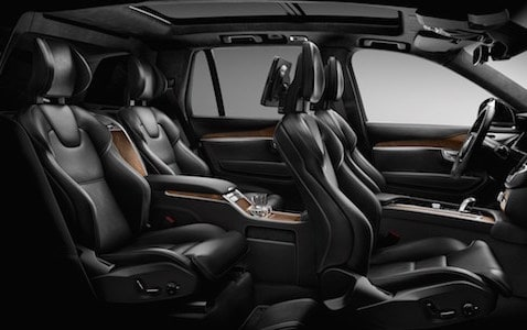 All black seating arrangement in the 2019 Volvo XC90