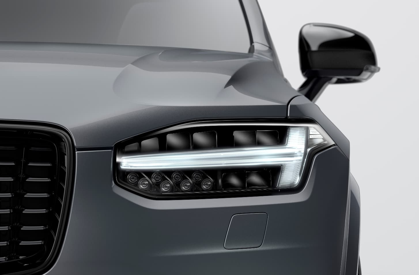 Closeup of a 2021 Volvo XC90