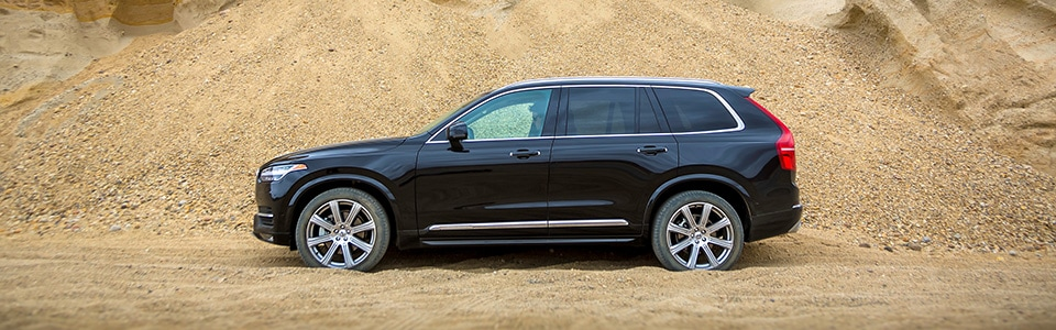 2019 XC90 driving on sand