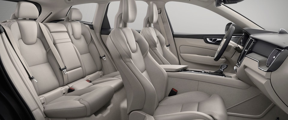 The interior seating  of the 2019 Volvo XC60