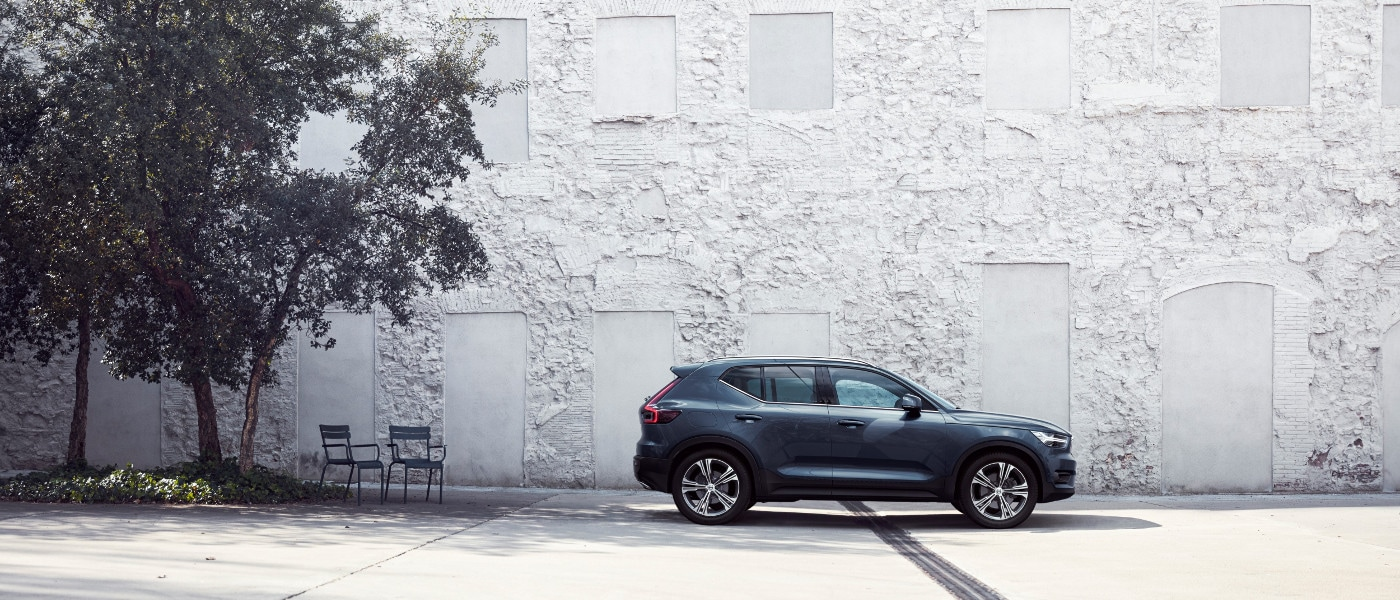 Grey Volvo XC40 on road