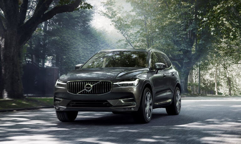 2021 Volvo XC60 driving in a suburb