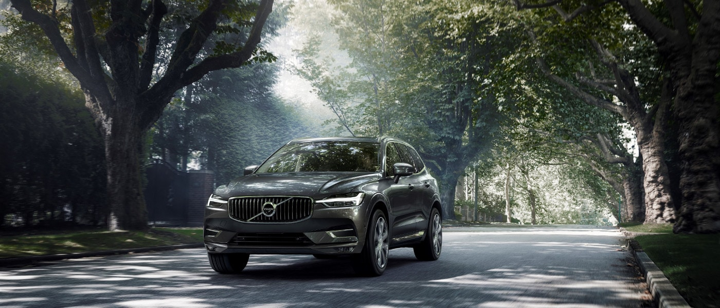 Grey 2020 Volvo XC60 on road