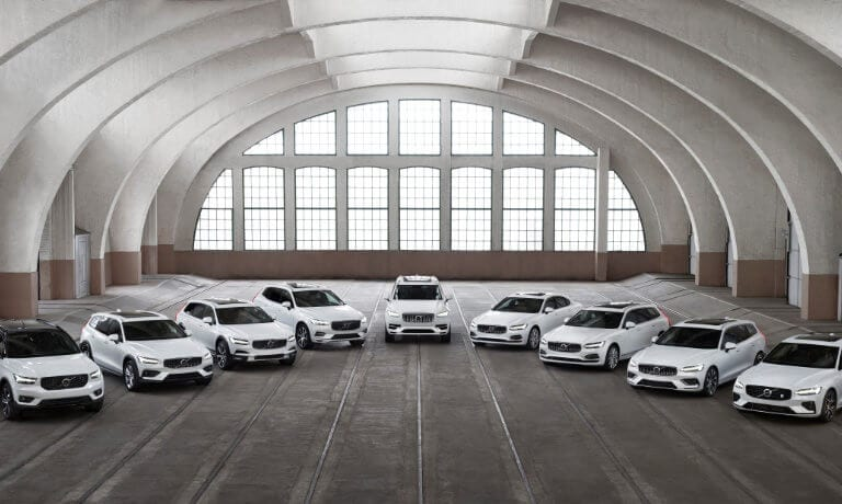 Full Volvo lineup of vehicles