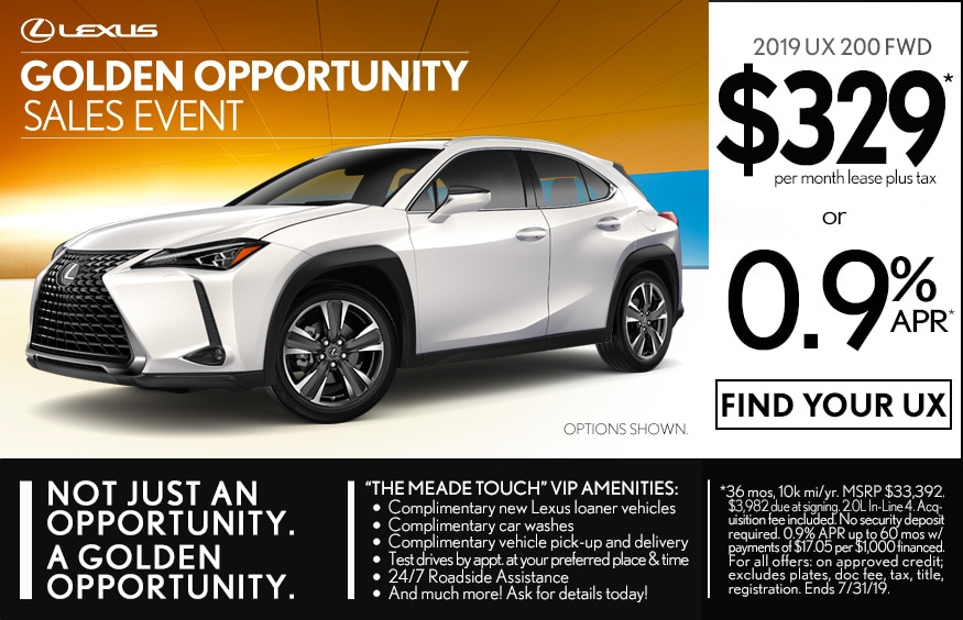 Lexus Lease Offers >> New Lexus Vehicle Finance Lease Offers In Southfield Mi Meade
