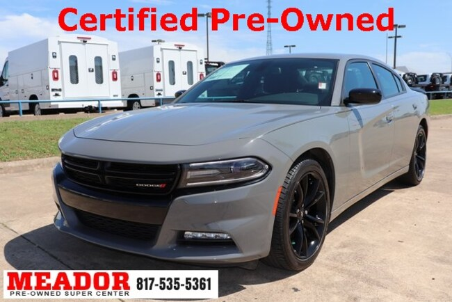 Certified Used 2018 Dodge Charger SXT Plus Sedan in Fort Worth, TX