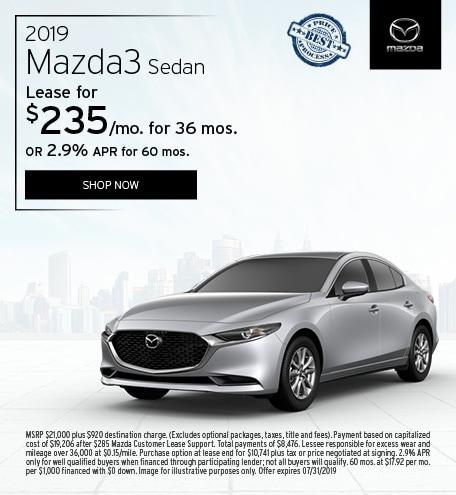 2019 Mazda3 July Offer