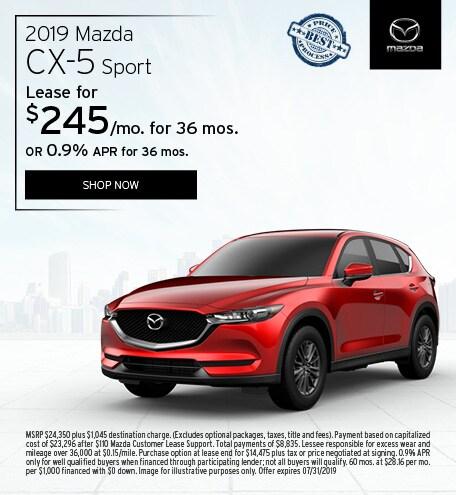 2019 Mazda CX-5 July Offer