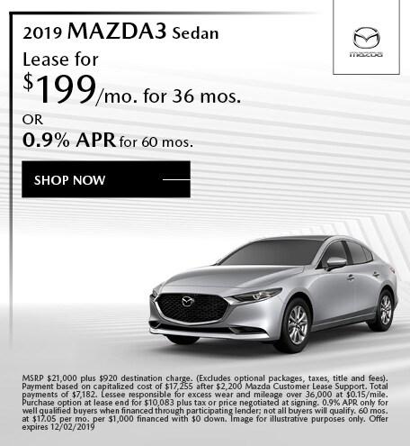 2019 Mazda3 November Offers