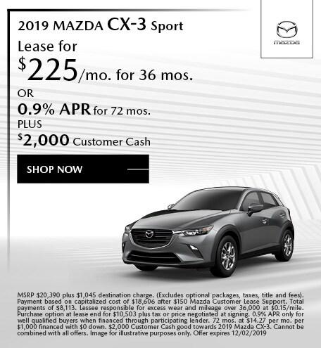 2019 Mazda CX-3 November Offers