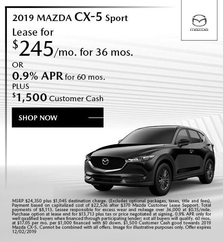 2019 Mazda CX-5 November Offers