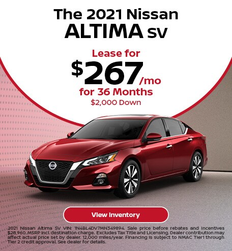 The 2021 Nissan Altima SV