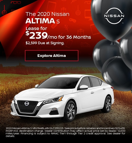 The 2020 Nissan Altima S