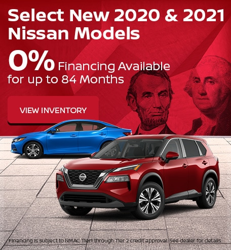 Select New 2020 & 2021 Nissan Models