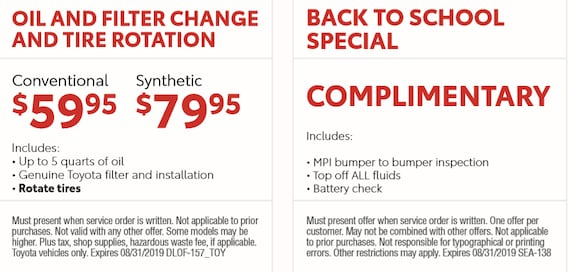 Mechanicsville Toyota Service Specials Page