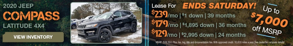 December 2020 Jeep Compass Lease