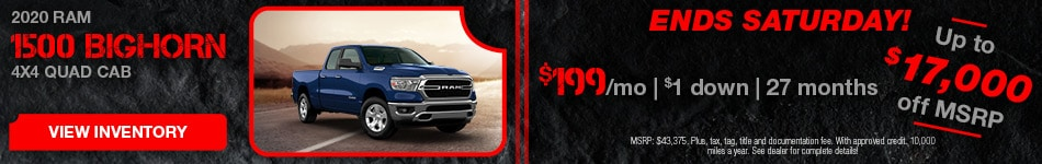 February 2020 Ram 1500 Quad Cab Lease
