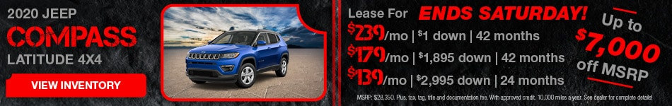 February 2020 Jeep Compass Lease
